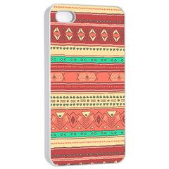 Hand Drawn Ethnic Shapes Pattern Apple Iphone 4/4s Seamless Case (white) by TastefulDesigns