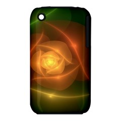 Orange Rose Apple Iphone 3g/3gs Hardshell Case (pc+silicone) by Delasel