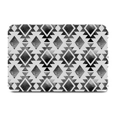 Hand Painted Black Ethnic Pattern Plate Mats by TastefulDesigns