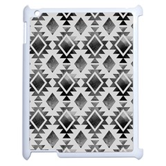 Hand Painted Black Ethnic Pattern Apple Ipad 2 Case (white) by TastefulDesigns