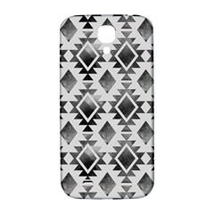 Hand Painted Black Ethnic Pattern Samsung Galaxy S4 I9500/i9505  Hardshell Back Case by TastefulDesigns