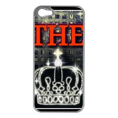 The King Apple Iphone 5 Case (silver) by SugaPlumsEmporium
