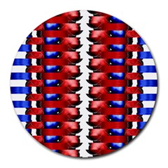 The Patriotic Flag Round Mousepads by SugaPlumsEmporium