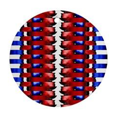 The Patriotic Flag Ornament (round)  by SugaPlumsEmporium