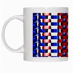 The Patriotic Flag White Mugs by SugaPlumsEmporium