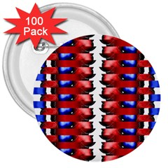 The Patriotic Flag 3  Buttons (100 Pack)  by SugaPlumsEmporium