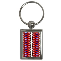The Patriotic Flag Key Chains (rectangle)  by SugaPlumsEmporium