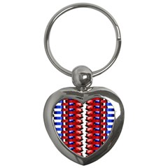 The Patriotic Flag Key Chains (heart)  by SugaPlumsEmporium