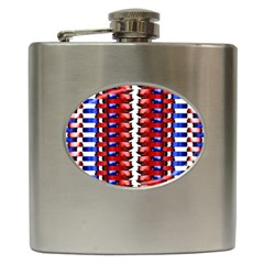 The Patriotic Flag Hip Flask (6 Oz) by SugaPlumsEmporium