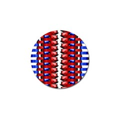 The Patriotic Flag Golf Ball Marker by SugaPlumsEmporium