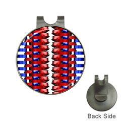 The Patriotic Flag Hat Clips with Golf Markers by SugaPlumsEmporium