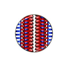 The Patriotic Flag Hat Clip Ball Marker (10 pack) by SugaPlumsEmporium