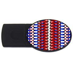 The Patriotic Flag USB Flash Drive Oval (4 GB)  by SugaPlumsEmporium