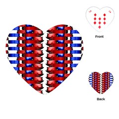 The Patriotic Flag Playing Cards (Heart)  by SugaPlumsEmporium