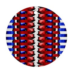The Patriotic Flag Round Ornament (Two Sides)  by SugaPlumsEmporium