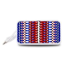 The Patriotic Flag Portable Speaker (White)  by SugaPlumsEmporium