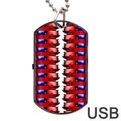 The Patriotic Flag Dog Tag Usb Flash (two Sides)  by SugaPlumsEmporium
