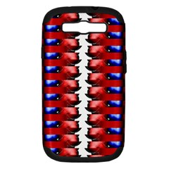The Patriotic Flag Samsung Galaxy S Iii Hardshell Case (pc+silicone) by SugaPlumsEmporium