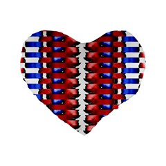 The Patriotic Flag Standard 16  Premium Heart Shape Cushions by SugaPlumsEmporium