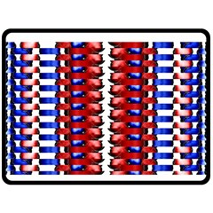 The Patriotic Flag Double Sided Fleece Blanket (large)  by SugaPlumsEmporium