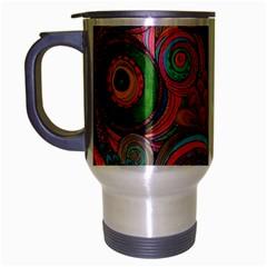 Rainbow Passion Travel Mug (silver Gray) by SugaPlumsEmporium
