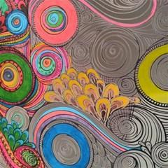 Rainbow Passion Canvas 12  X 12   by SugaPlumsEmporium