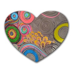 Rainbow Passion Heart Mousepads by SugaPlumsEmporium