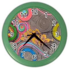 Rainbow Passion Color Wall Clocks by SugaPlumsEmporium