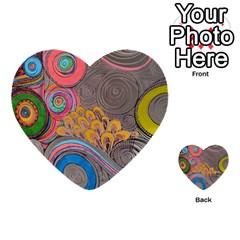 Rainbow Passion Multi Purpose Cards (heart)  by SugaPlumsEmporium