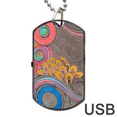 Rainbow Passion Dog Tag Usb Flash (two Sides)  by SugaPlumsEmporium