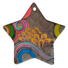 Rainbow Passion Ornament (star)  by SugaPlumsEmporium