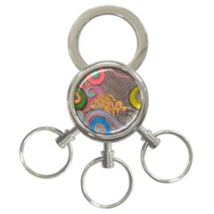 Rainbow Passion 3 Ring Key Chains by SugaPlumsEmporium