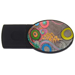 Rainbow Passion Usb Flash Drive Oval (4 Gb)  by SugaPlumsEmporium