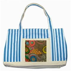 Rainbow Passion Striped Blue Tote Bag by SugaPlumsEmporium