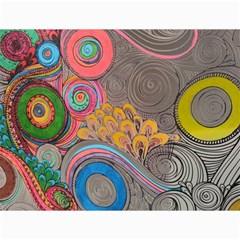 Rainbow Passion Canvas 36  X 48   by SugaPlumsEmporium