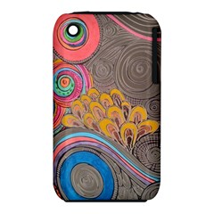 Rainbow Passion Apple Iphone 3g/3gs Hardshell Case (pc+silicone) by SugaPlumsEmporium