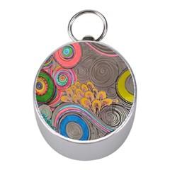 Rainbow Passion Mini Silver Compasses by SugaPlumsEmporium