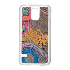 Rainbow Passion Samsung Galaxy S5 Case (white) by SugaPlumsEmporium