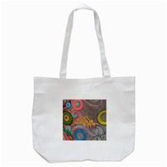 Rainbow Passion Tote Bag (white) by SugaPlumsEmporium
