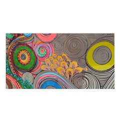 Rainbow Passion Satin Shawl by SugaPlumsEmporium