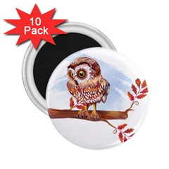 Owl 2.25  Magnets (10 pack)  by TastefulDesigns