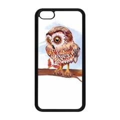 Owl Apple Iphone 5c Seamless Case (black) by TastefulDesigns