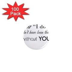 Wedding Favor/thank You 1  Mini Magnets (100 Pack)  by LittileThingsInLife