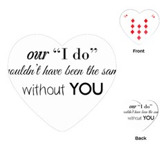 Wedding Favor/thank You Playing Cards (heart)  by LittileThingsInLife