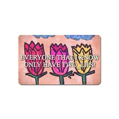 Two Lips   Tulips Magnet (name Card) by SugaPlumsEmporium