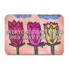 Two Lips   Tulips Plate Mats by SugaPlumsEmporium
