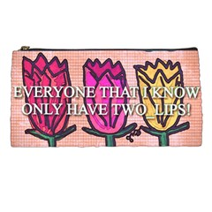 Two Lips   Tulips Pencil Cases by SugaPlumsEmporium