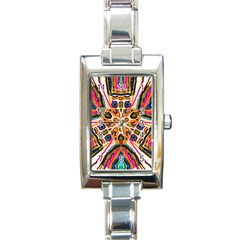 Ethnic You Collecition Rectangle Italian Charm Watch by SugaPlumsEmporium