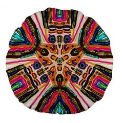 Ethnic You Collecition Large 18  Premium Flano Round Cushions by SugaPlumsEmporium