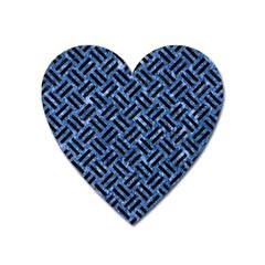 WOV2 BK-BL MARBLE (R) Heart Magnet by trendistuff